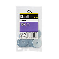 Diall M5 Carbon steel Penny Washer, Pack of 10