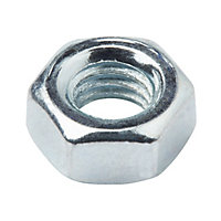 Diall M6 Carbon steel Hex Nut, Pack of 20