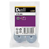 Diall M6 Carbon steel Penny Washer, Pack of 10