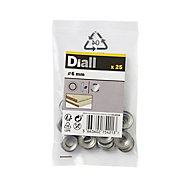 Diall M6 Stainless steel Screw cup Washer, Pack of 25