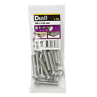 Diall M8 Hex Stainless steel Bolt & nut (L)40mm, Pack of 10