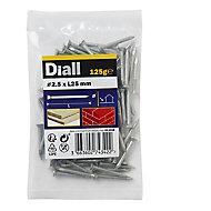 Diall Masonry nail (L)25mm (Dia)2.5mm 125g, Pack