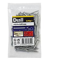 Diall Masonry nail (L)25mm (Dia)2.5mm, Pack