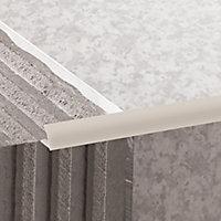Diall Matt Cream 9mm Round PVC External edge tile trim