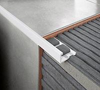 Diall Matt White 12.5mm Straight PVC External edge tile trim