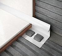 Diall Matt White 6mm Round PVC External edge tile trim