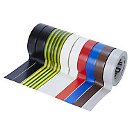 Diall Multicolour Electrical Tape (L)10m (W)15mm, Pack of 10