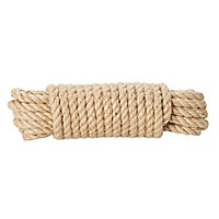 Diall Natural Jute Twisted rope, (L)10m (Dia)8mm