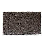 Diall Plain printed Grey Coir Door mat (L)0.75m (W)0.45m
