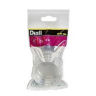Diall PVC Leg protectors (Dia)51mm, Pack of 4