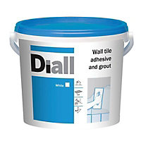 Diall Ready mixed White Wall Tile Adhesive & grout, 6.6kg