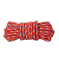 Diall Red Polypropylene (PP) Braided rope, (L)7.5m (Dia)9mm