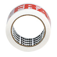 Diall Red & white Tape (L)66m (W)50mm
