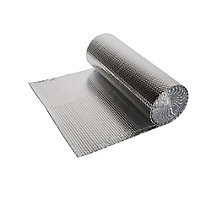 Diall Reflective Bubble insulation roll, (L)10m (W)0.6m (T)3mm