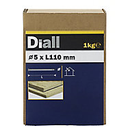 Diall Round wire nail (L)110mm (Dia)5mm 1kg, Pack