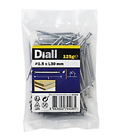 Diall Round wire nail (L)30mm (Dia)1.5mm, Pack