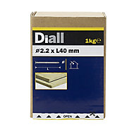 Diall Round wire nail (L)40mm (Dia)2.2mm, Pack