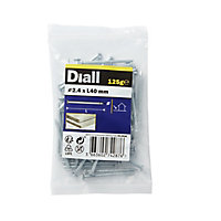 Diall Round wire nail (L)40mm (Dia)2.4mm 125g, Pack
