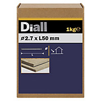 Diall Round wire nail (L)50mm (Dia)2.7mm 1kg, Pack