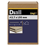 Diall Round wire nail (L)50mm (Dia)2.7mm, Pack