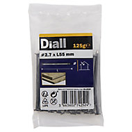 Diall Round wire nail (L)55mm (Dia)2.7mm, Pack
