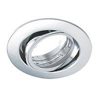 Diall Satin chrome effect Tilting mini spotlight