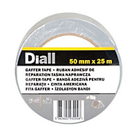Diall Silver effect Duct Tape (L)25m (W)50mm