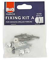 Diall Silver Plastic Mirror fixings