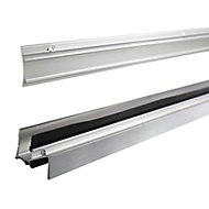 Diall Silver Silver effect PVC Threshold & rain deflector, (L)0.91m