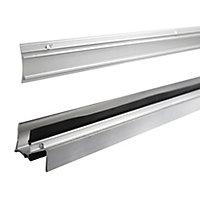 Diall Silver Silver effect PVC Threshold & rain deflector, (L)0.91m