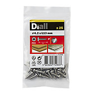 Diall Stainless steel Metal Screw (Dia)4.2mm (L)13mm, Pack of 25
