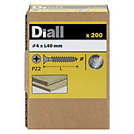 Diall Stainless steel Wood Screw (Dia)4mm (L)40mm, Pack of 200