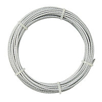 Diall Steel Cable, (L)10m (Dia)4mm