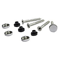 Diall Steel Mirror screw (Dia)3.5mm, Pack of 4