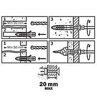 Diall Universal Nylon & steel Wall plug (L)40mm (Dia)8mm, Pack of 30