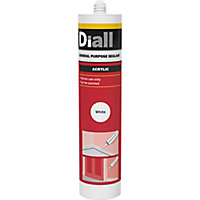 Diall White Acrylic-based General-purpose Sealant, 310ml