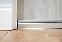 Diall White Aluminium & rubber Self-adhesive Draught excluder, (L)0.93m