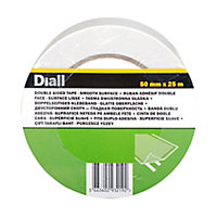 Diall White Carpet Double-sided Tape (L)25m (W)50mm