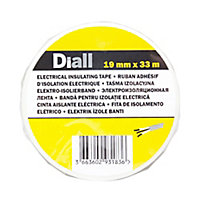 Diall White Electrical Tape (L)33m (W)19mm