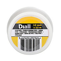 Diall White PTFE Tape (L)12m (W)12mm