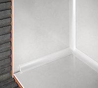 Diall White PVC Round Internal edge tile trim, 9mm