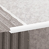 Diall White PVC Round Tiling trim, 12.5mm