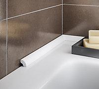 Diall White Round edge Bath seal (L)2500mm (W)17mm