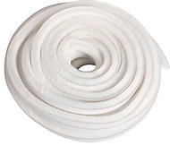 Diall White Self-adhesive Draught seal (L)20m