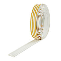 Diall White Self-adhesive Draught seal (L)24m (W)9mm (T)5.5mm