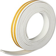 Diall White Self-adhesive Draught seal (L)24m