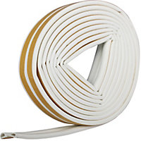 Diall White Self-adhesive Draught seal (L)6m (W)9mm (T)5.5mm