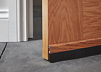 Diall Wood effect Aluminium Self-adhesive Draught excluder, (L)1m