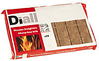 Diall Wood Firelighters 216g, Pack of 28
