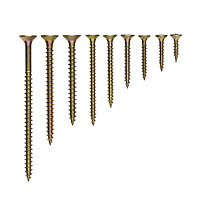 Diall Yellow zinc-plated Carbon steel Wood Screw, Set of 1200